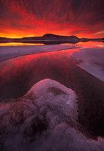 quabbin reservoir, Massachusetts, lake, winter, sunrise, ice, reflection, dawn,