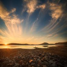 sunrise, quabbin reservoir, Massachusetts, lake, patrick Zephyr