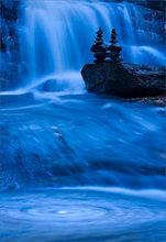 Cairns, waterfall, Pelham, Massachusetts, blue