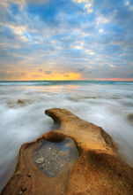 ocean, florida, waves, sunrise, coral cove state park, coral cove, Patrick Zephyr, limestone