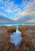 florida, ocean, sunset, limestone,