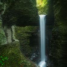 watkins glenn, cavern cascade, watkins glenn state park, new york, waterfall, cascade,