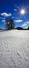 Winter, island, snow, sun, quabbin reservoir, Massachusetts,