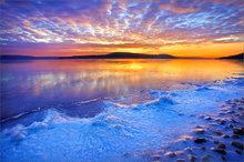 quabbin reservoir, snow, sunrise, lake,