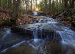 waterfall, massachusetts, cascade, patrick zephyr, stream, forest