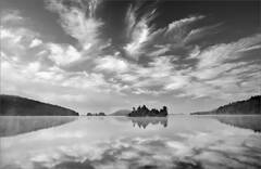 Quabbin reservoir, islands, clouds, Massachusetts,