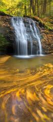 Gunn brook falls, Sunderland, Massachusetts, autumn, waterfall,