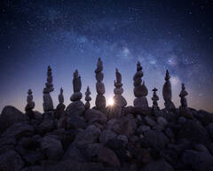 stone stacking, milkyway, night photography, quabbin reservoir, Massachusetts, patrick zephyr, moonrise, stars