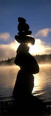 Cairns, rock, star, quabbin reservoir, Massachusetts,