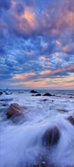 Sackonett point, Rhode Island, ocean, sunrise, wave