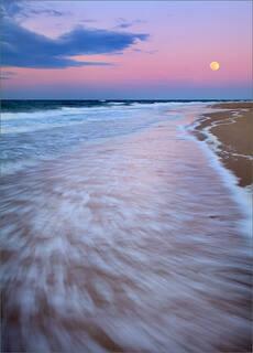 Cape Cod Moonset