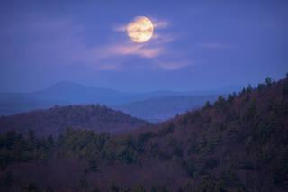 Moonrise over the Quabbin
