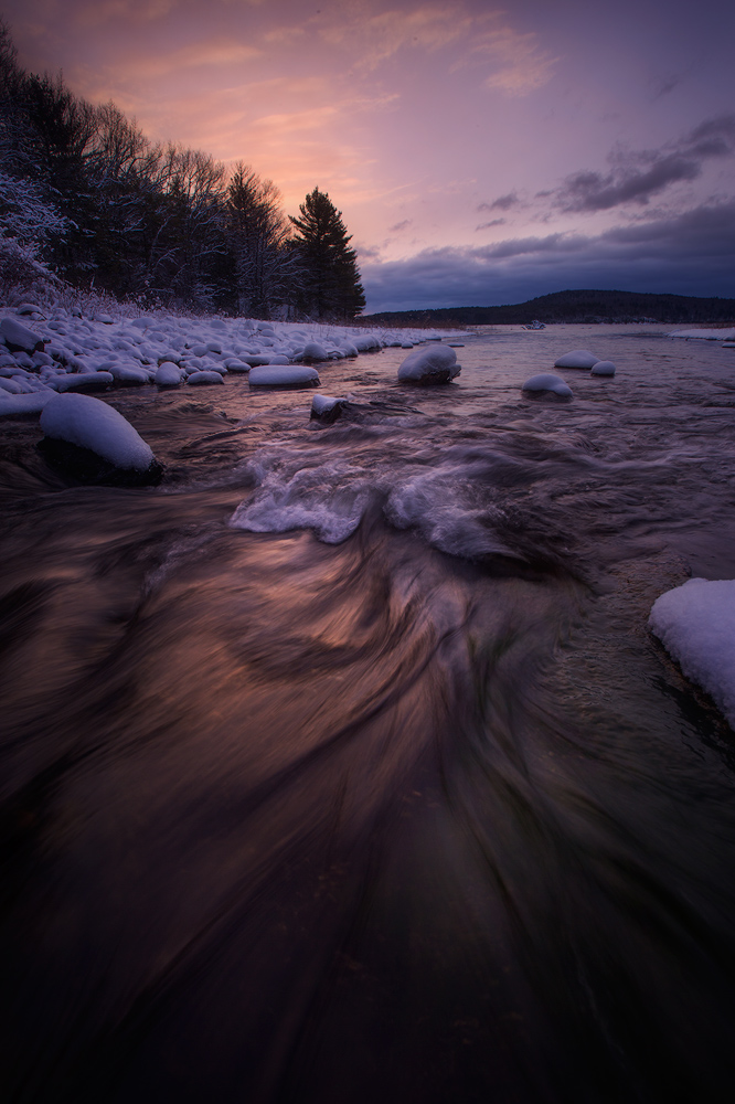 sunrise, cascade, stream, dawn, quabbinreservoir, massachusetts, patrickzephyr, photo