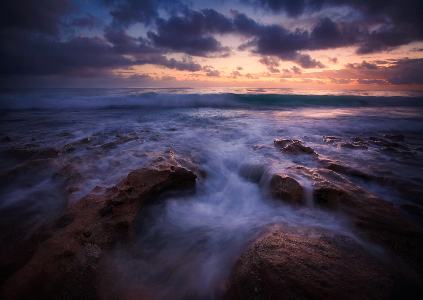 anastasia limestone, florida, sunrise, waves, ocean, dawn, Patrick Zephyr Photography, photo