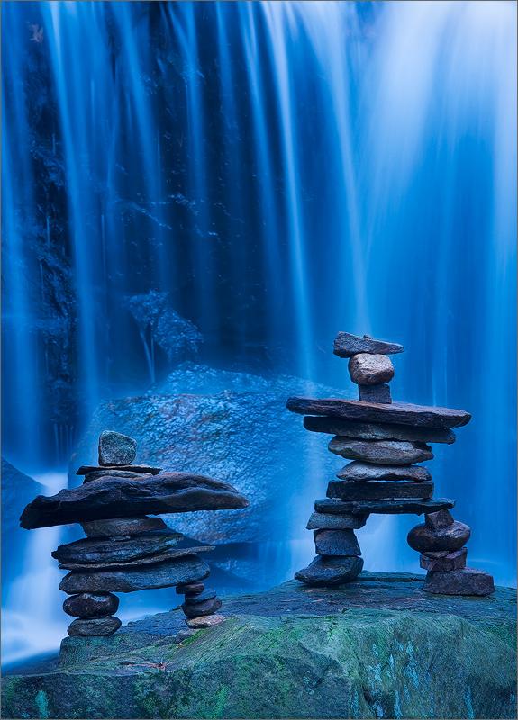 Inkshuks, blue, waterfall, Pelham, Massachusetts,, photo