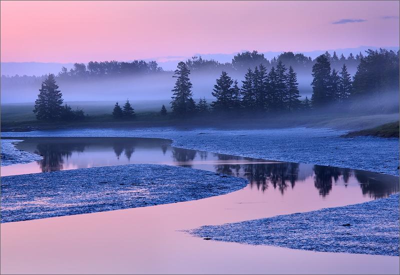 acadia national park, maine, sunrise, pink, photo