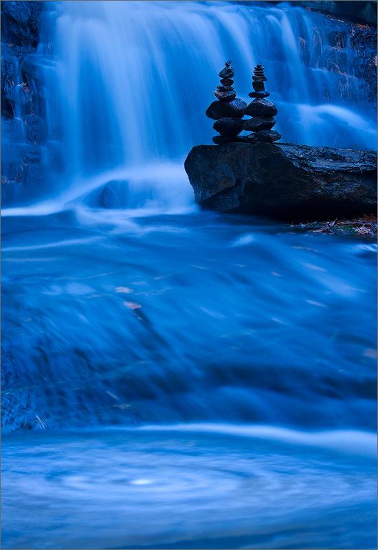 Cairns, waterfall, Pelham, Massachusetts, blue, photo