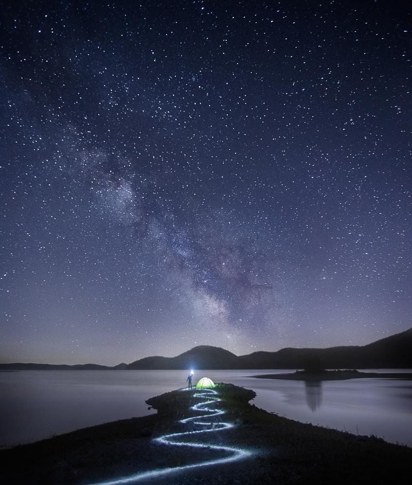 milkyway, Massachusetts, Patrick Zephyr, night astrophotography, stars, light trails, photo