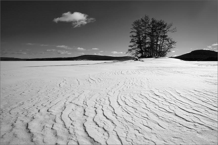 Island, winter, quabbin reservoir, snow, Massachusetts,, photo