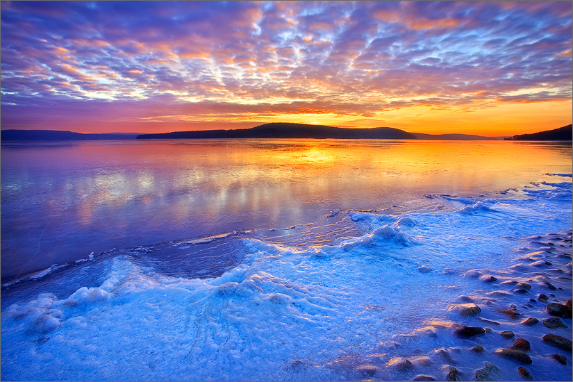 quabbin reservoir, snow, sunrise, lake, , photo