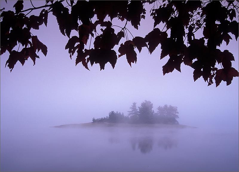 fog, island, quabbin reservoir, masachusetts, photo