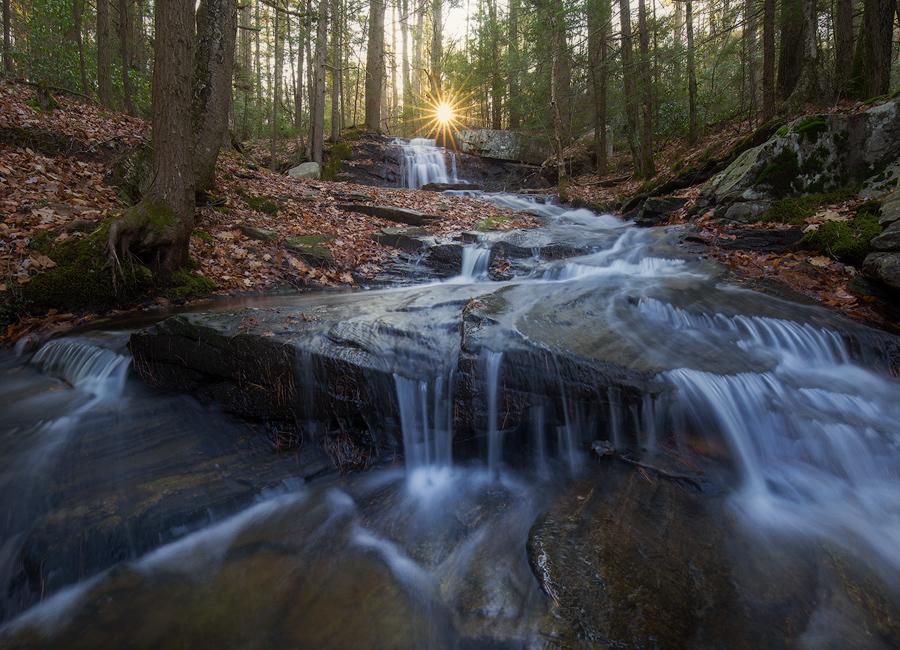 waterfall, massachusetts, cascade, patrick zephyr, stream, forest, photo