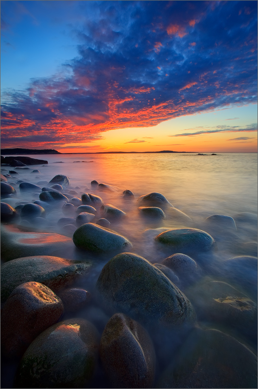 Acadia national park, Maine, sunrise, granite
