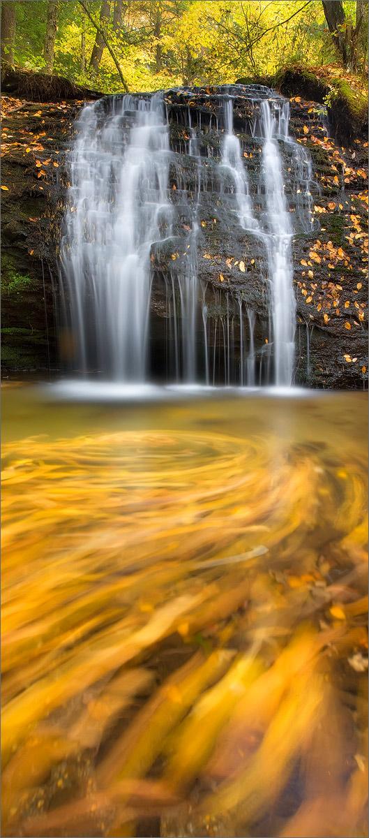 Gunn brook falls, Sunderland, Massachusetts, autumn, waterfall,, photo