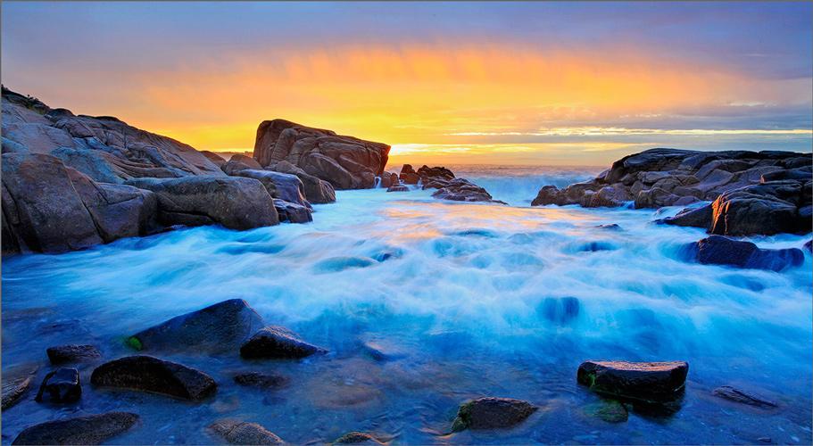 Biddeford pool, Maine, ocean, sunrise, photo