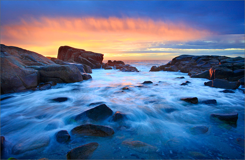 Biddeford pool, Maine, sunrise, ocean, surf
