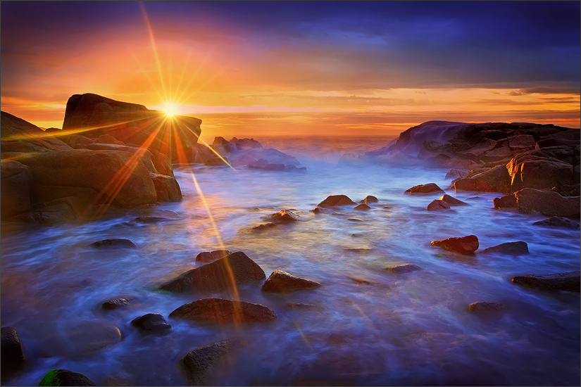 Biddeford pool, Maine, rocks, sunrise, photo