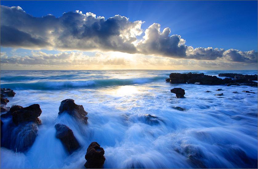 Florida, waves, ocean, surf, sunrise, coral cove, photo