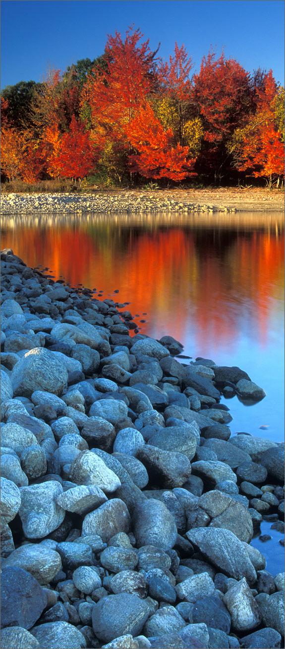 Autumn, sunset, quabbin reservoir, Massachusetts,, photo