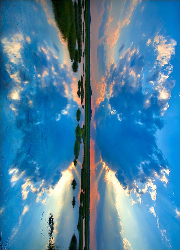 butterfly, clouds, reflection, newburyport, massachusetts
