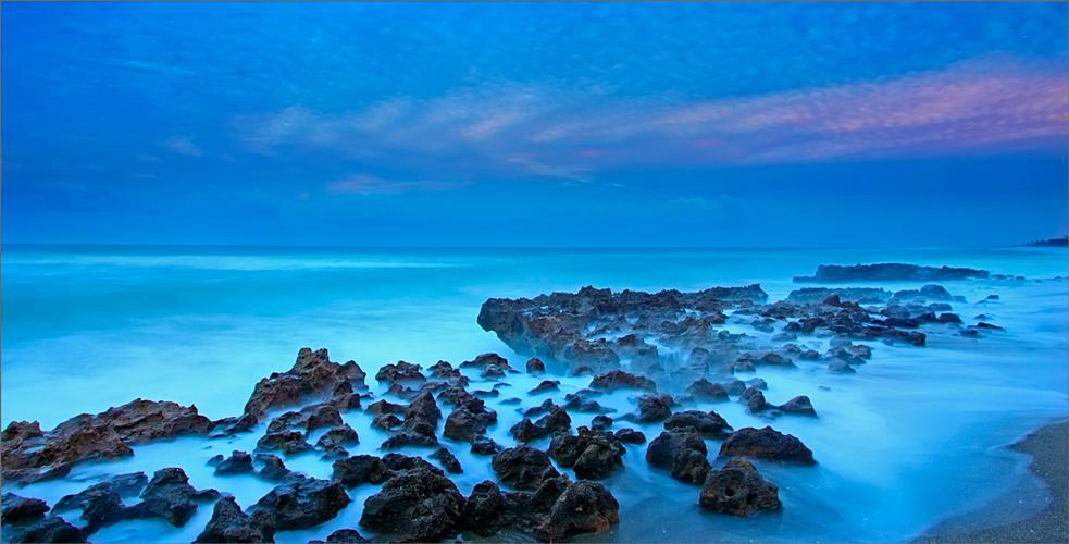 Coral cove, ocean, sunset, Florida,