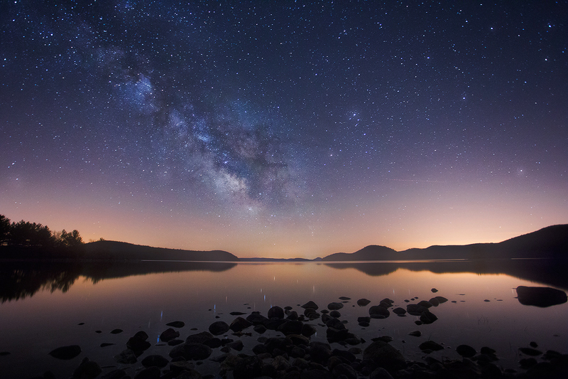 Milky Way, night, quabbin reservoir, Massachusetts, stars, , photo