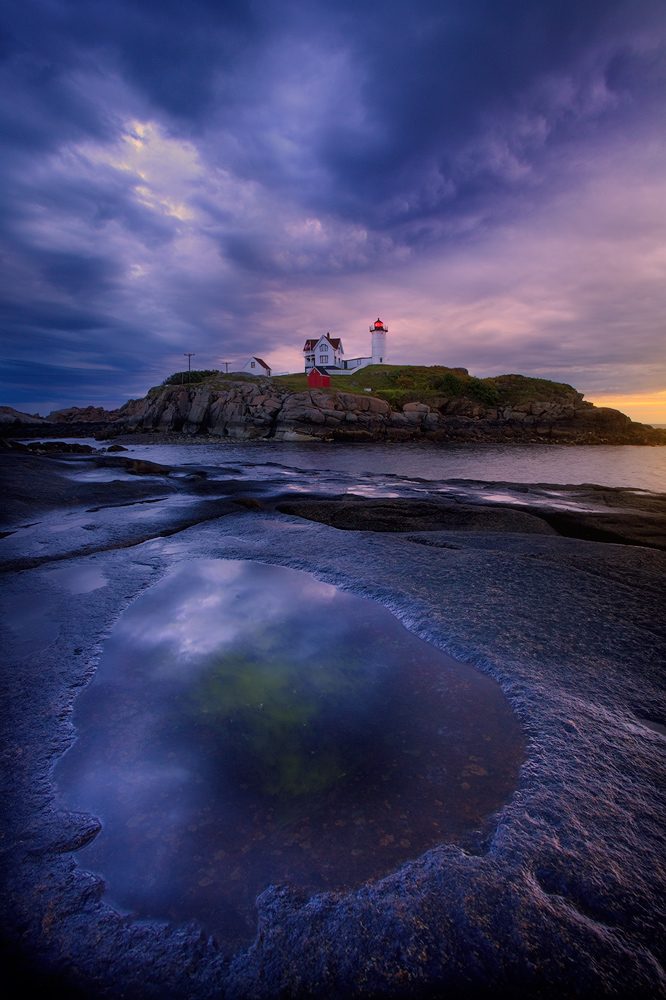nubblehead, maine, ocean, sunrise, photo