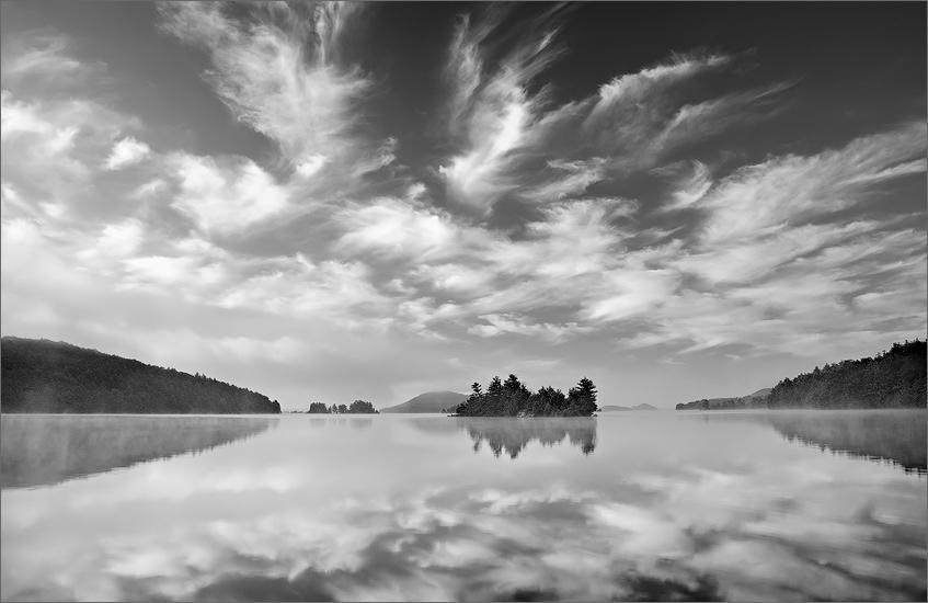 Quabbin reservoir, islands, clouds, Massachusetts,, photo