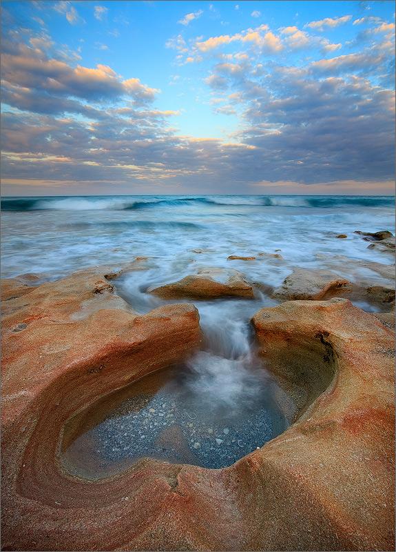 Florida, waves, ocean, surf, sunrise, coral cove