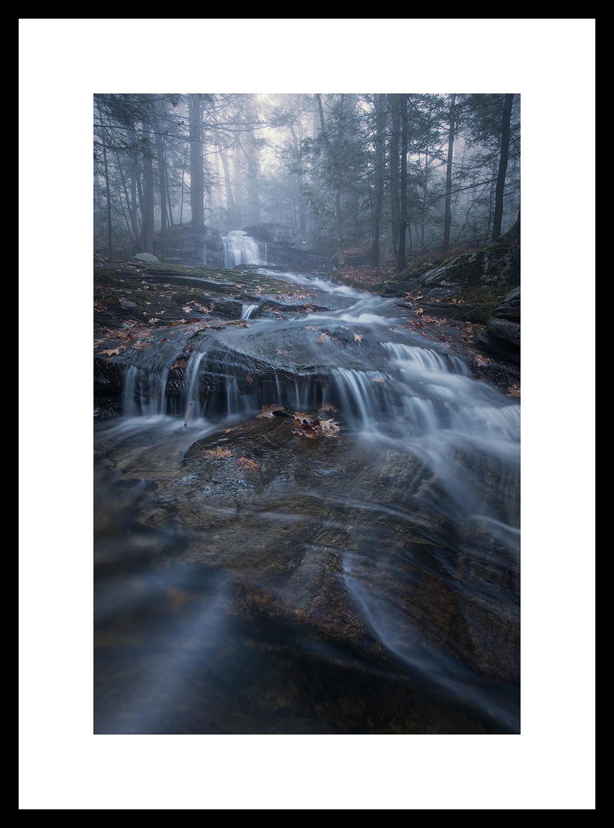 MATTED AND FRAMED PRINT - BLACK FRAME print preview