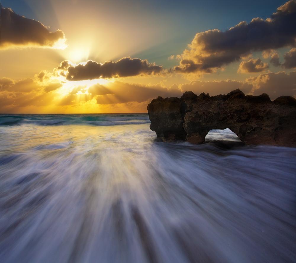 sunrise, coral cove, florida, ocean, waves, surf, photo