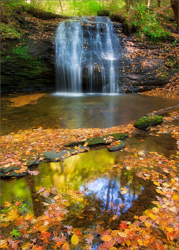 Autumn, waterfall, Sunderland, Massachusetts, gunn brook
