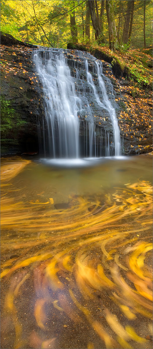 Gunn brook falls, Sunderland, Massachusetts, autumn, waterfall,, photo