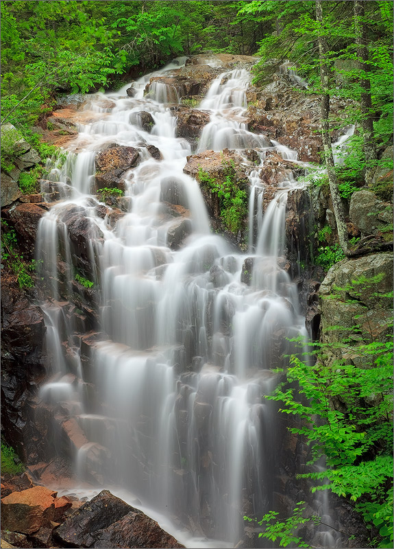 Hadlock falls, Acadia national park, waterfall, maine, photo