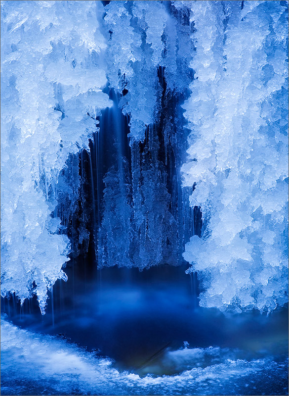 Ice, winter, water, cave, photo