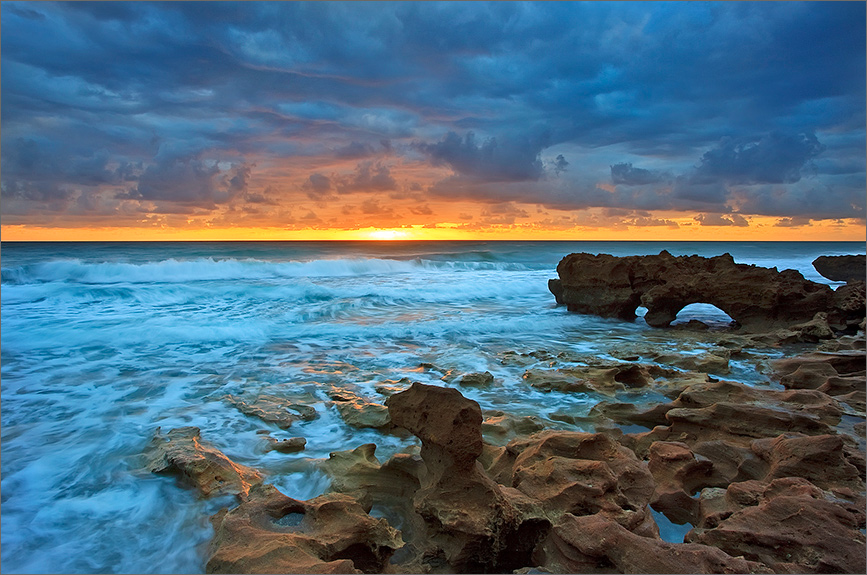 Coral Cove State Park. One of only a few places where the anastasia limestone formation is exposed on the shoreline. At high...