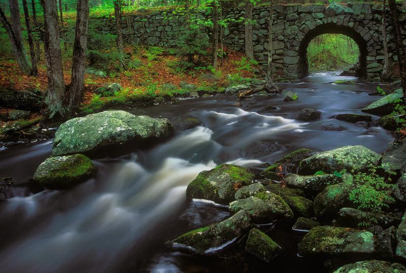 Swift river, keystone bridge, stream, quabbin reservoir, Massachusetts,