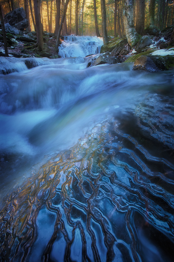 ice, winter, amethyst brook, pelham, massachusetts, stream, photo