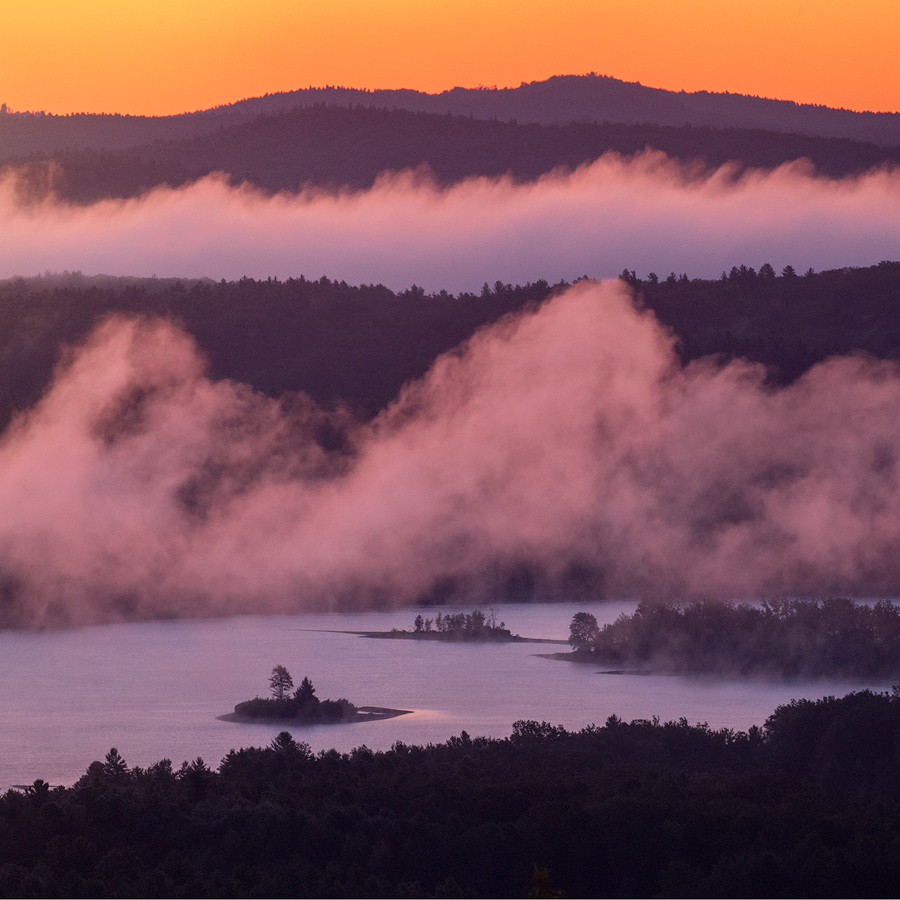 Looking down at the fog floating through the Quabbin never gets old.