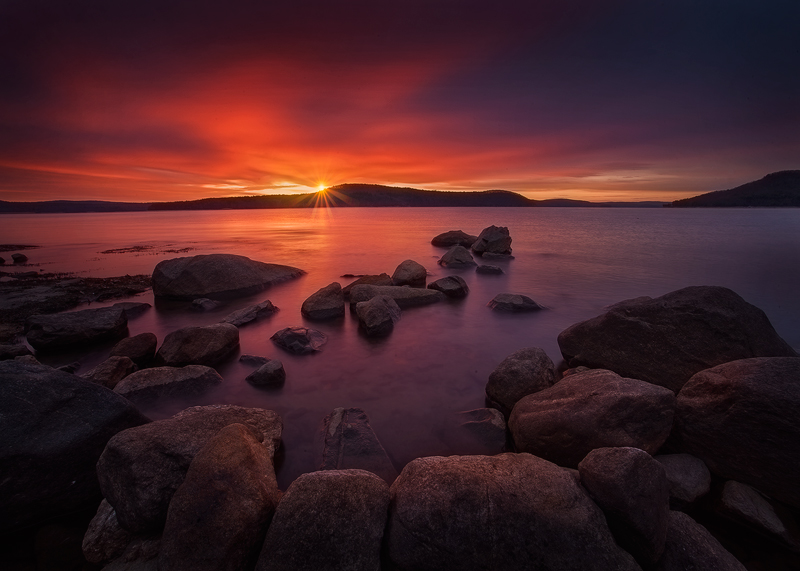 quabbin reservoir, Massachusetts, sunrise, rocks, dawn, morning, New Salem, photo